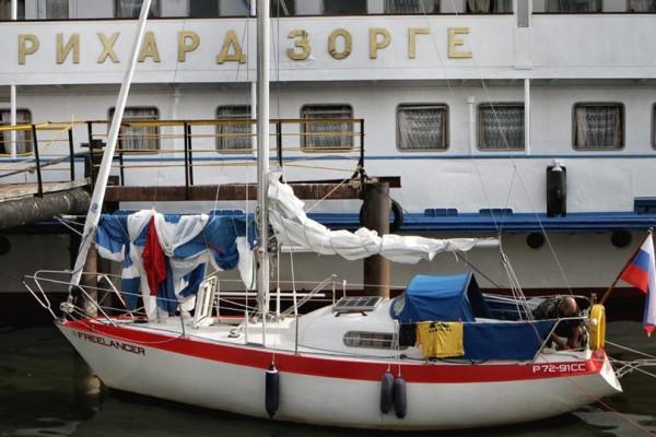 James Brown на яхте Freelancer
