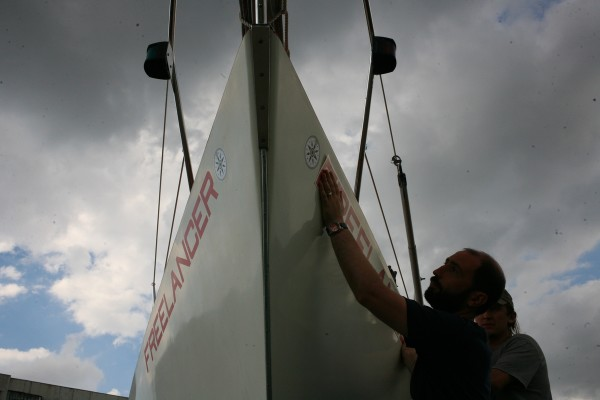Яхта Freelancer: Перед спуском на воду